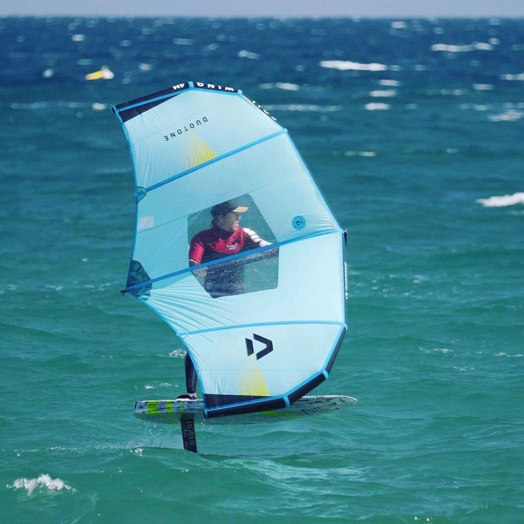 Lo sviluppo del Wingsurfing. Horue Wingfoil board proto