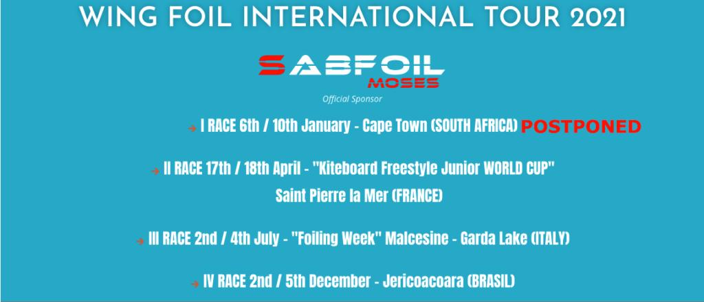 Wing Foil Tour calendario internazionale