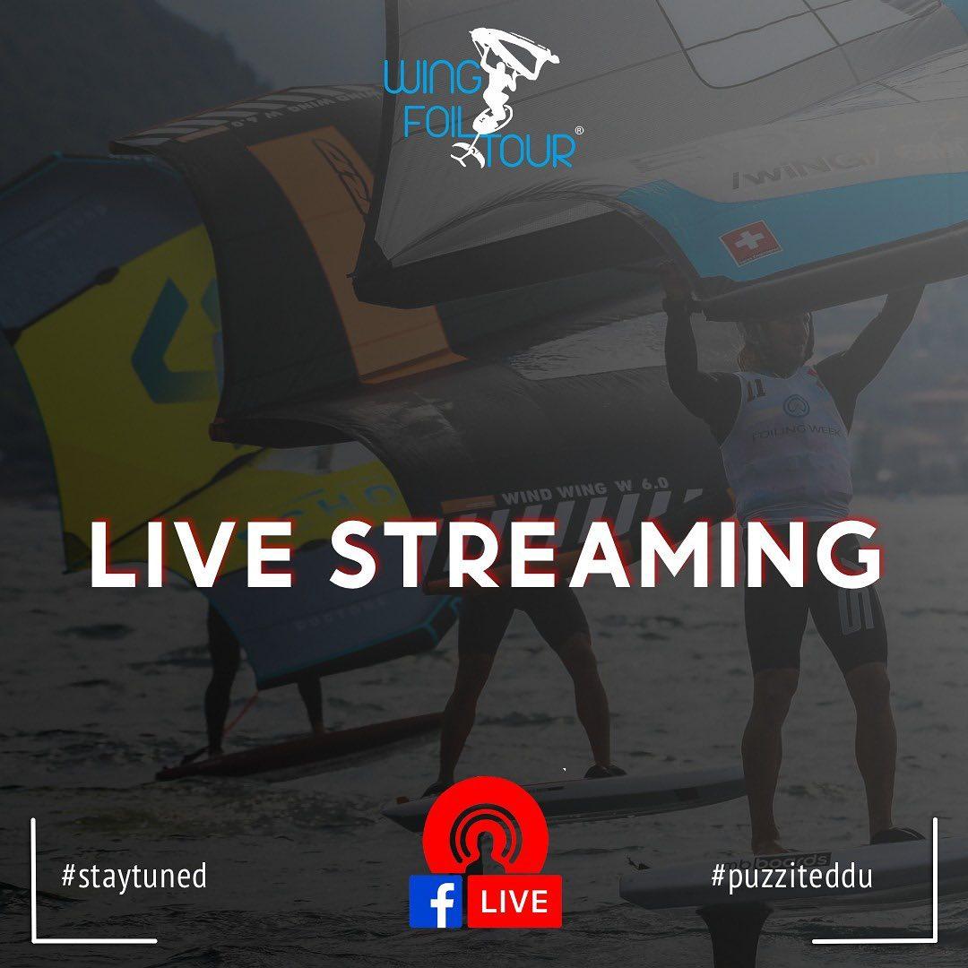 Live Streaming per il primo evento del Wing Foil Tour nazionale