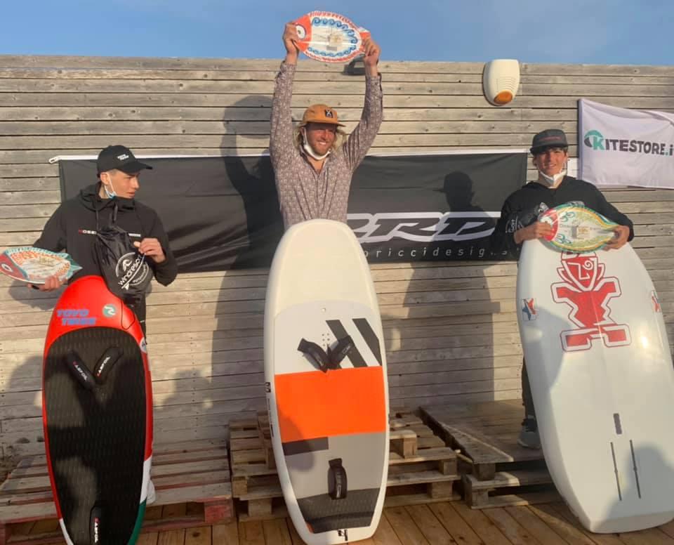 Il podio del contest di Freestyle/Wave